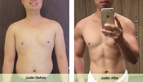 justin weight loss