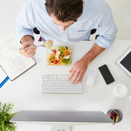 Tips for Eating While You Work